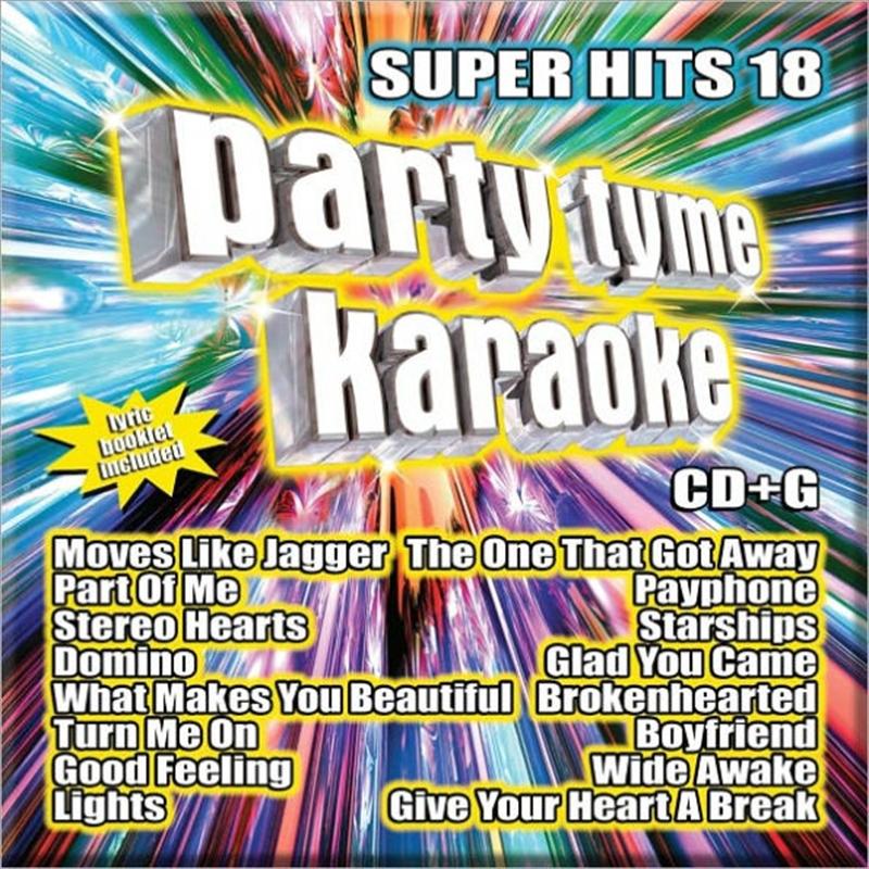 Party Tyme Karaoke - Super Hits - Vol 18   CD