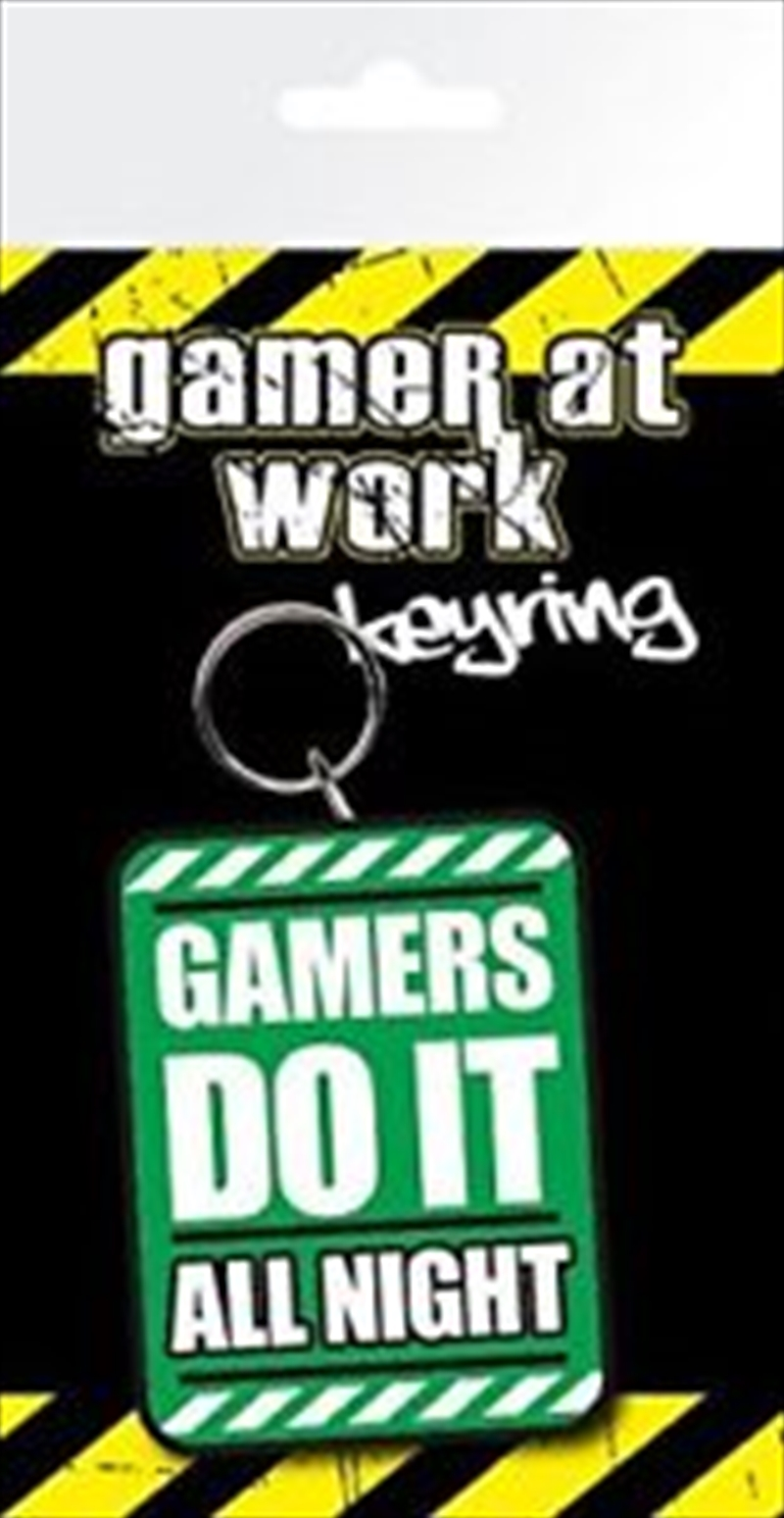 Gaming All Night Keyring | Accessories