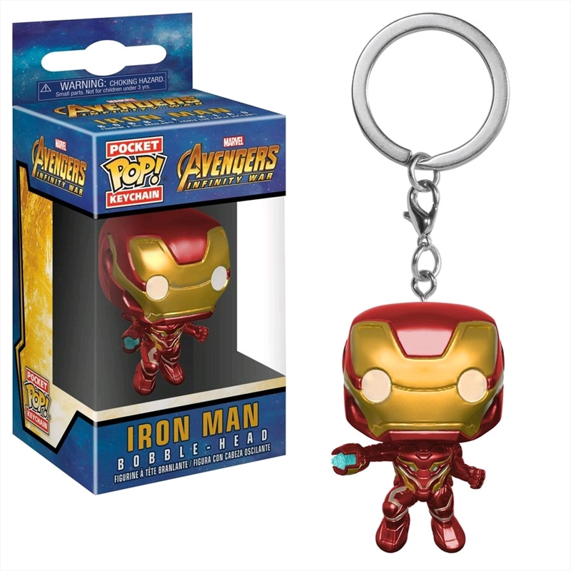 Avengers 3: Infinity War - Iron Man Pocket Pop! Keychain | Accessories