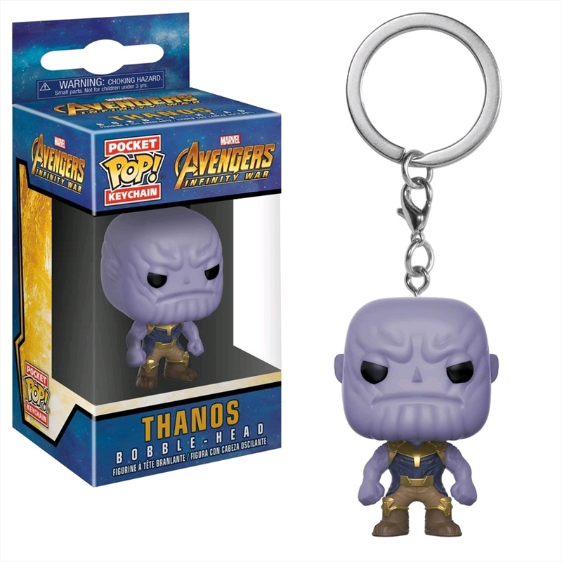 Avengers 3: Infinity War - Thanos Pocket Pop! Keychain | Accessories