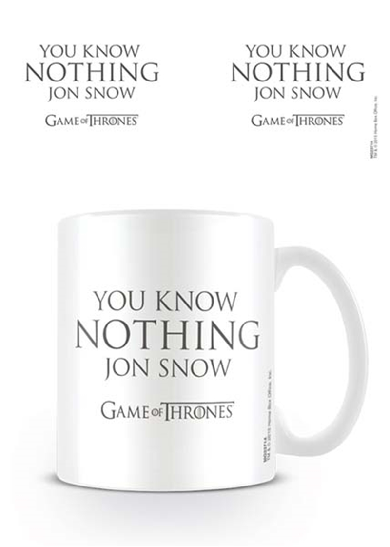 Game of Thrones - You Know Nothing Jon Snow | Merchandise