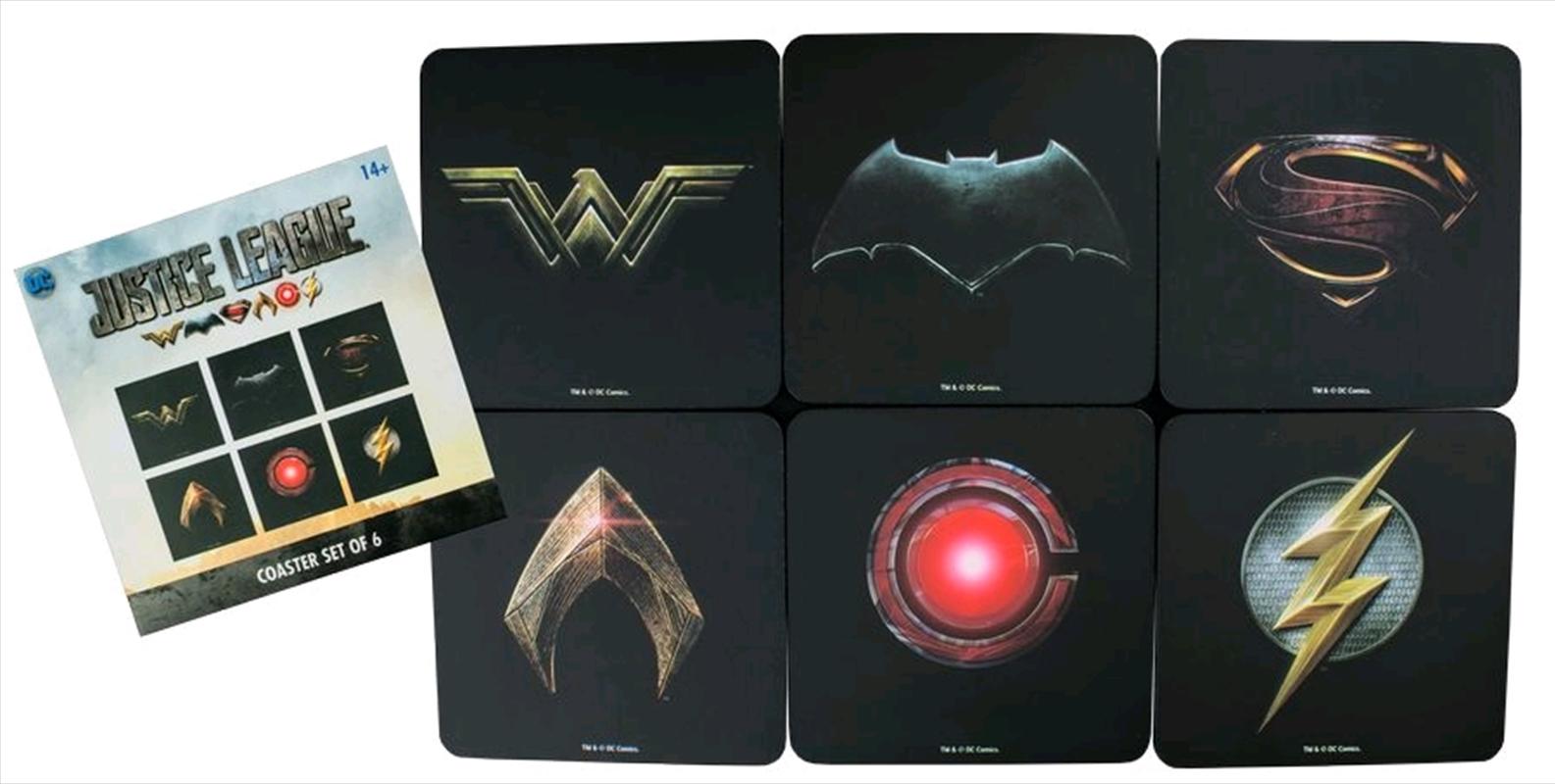 Justice League Movie - Full Team Logo Coaster Set of 6 | Merchandise