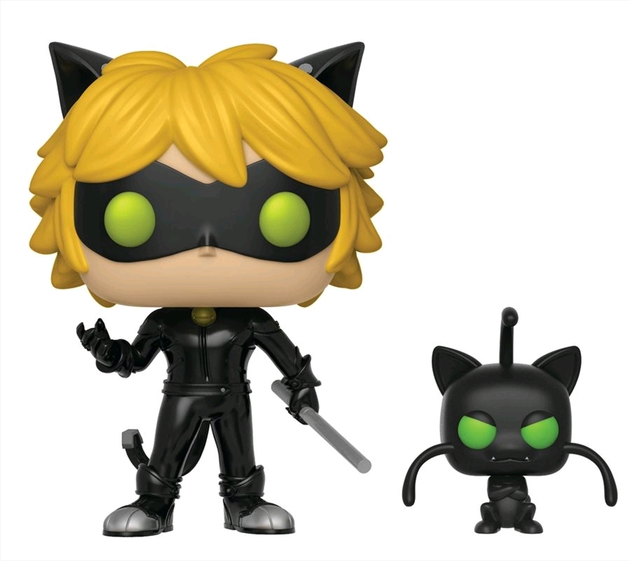 Miraculous: Tales of Ladybug & Cat Noir - Cat Noir with Plagg Pop! Vinyl | Pop Vinyl