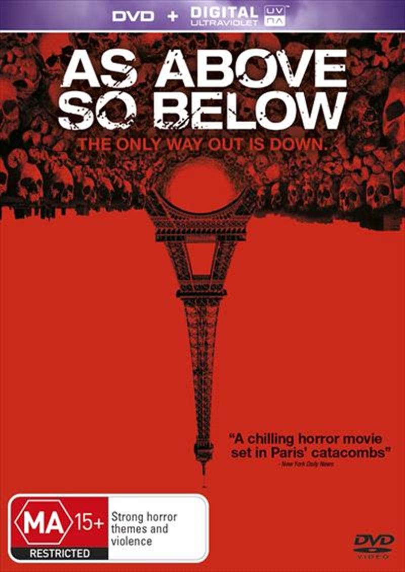 As Above, So Below   DVD