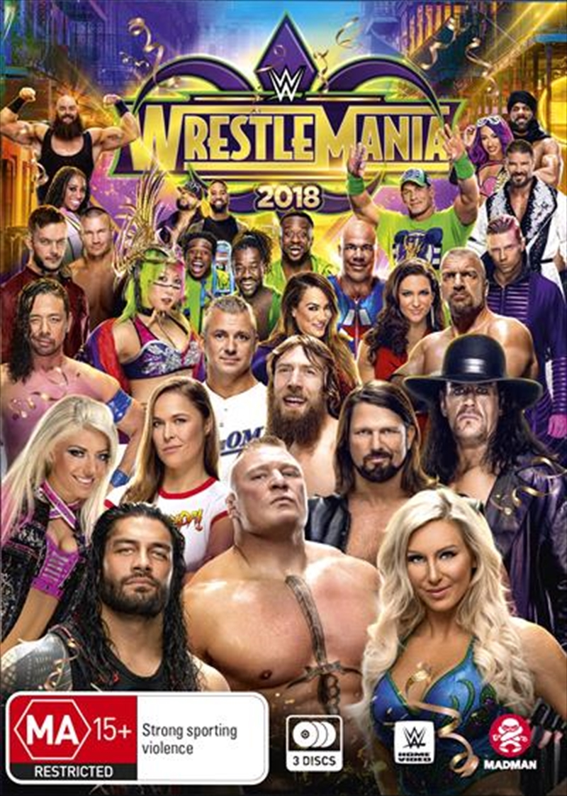 WWE - Wrestle Mania 2018 | DVD