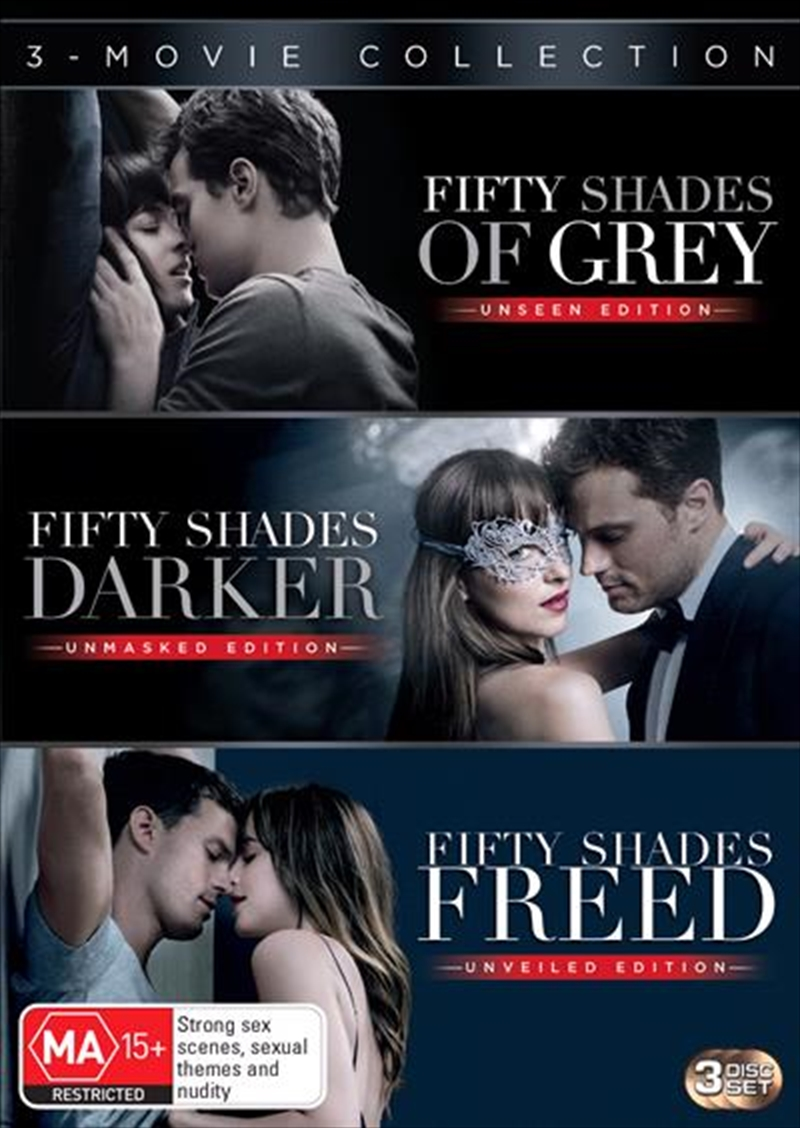 Fifty Shades Of Grey / Fifty Shades Darker / Fifty Shades Freed Triple Franchise Pack | DVD