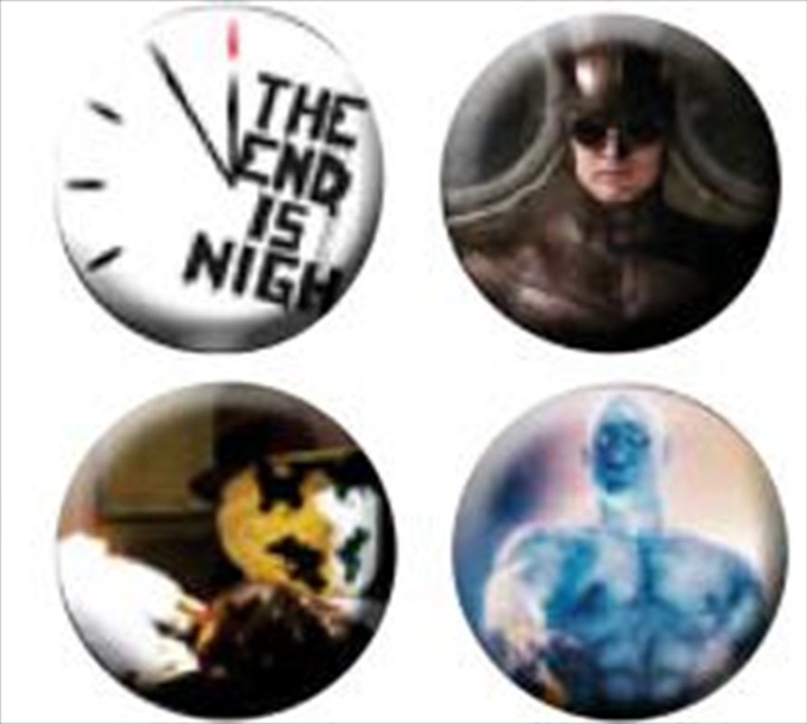 Watchmen - Pin Set Of 4 End Is Nigh | Accessories