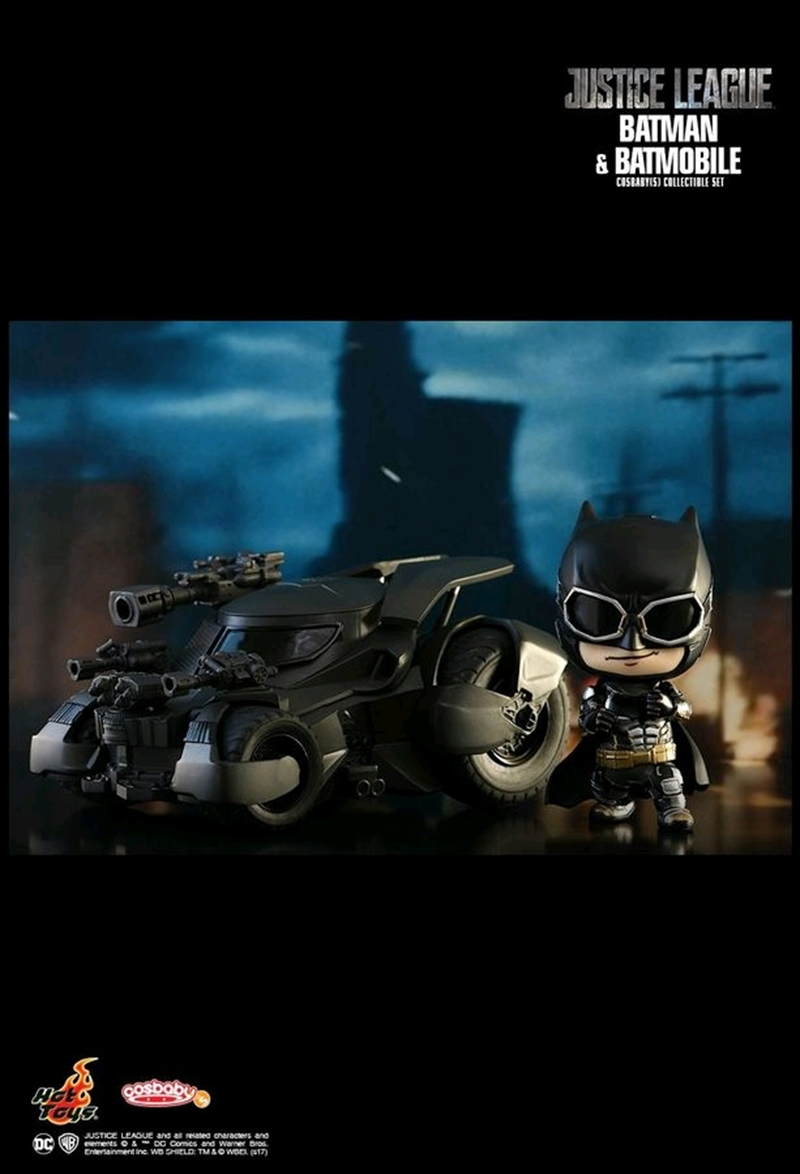 Justice League Movie - Batman & Batmobile Cosbaby | Merchandise