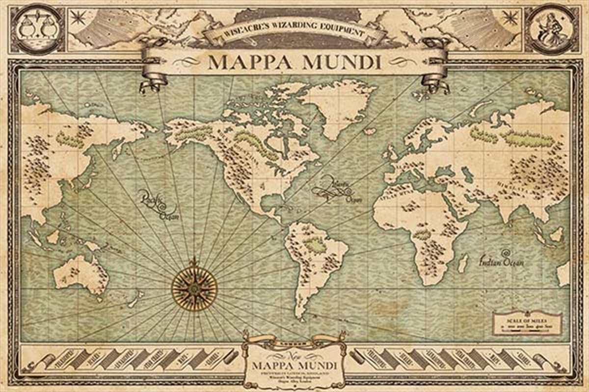 Fantastic Beasts And Where To Find Them - Mappa Mundi | Merchandise