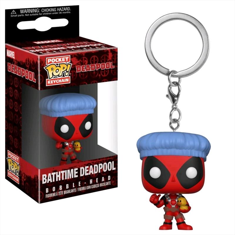 Deadpool - Deadpool Bath Time Pocket Pop! Keychain | Pop Vinyl