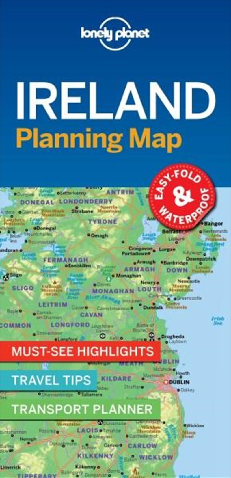 Lonely Planet - Ireland Planning Map | Sheet Map