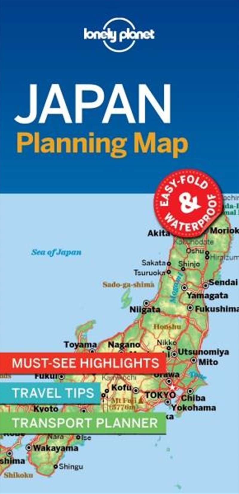 Lonely Planet - Japan Planning Map | Sheet Map