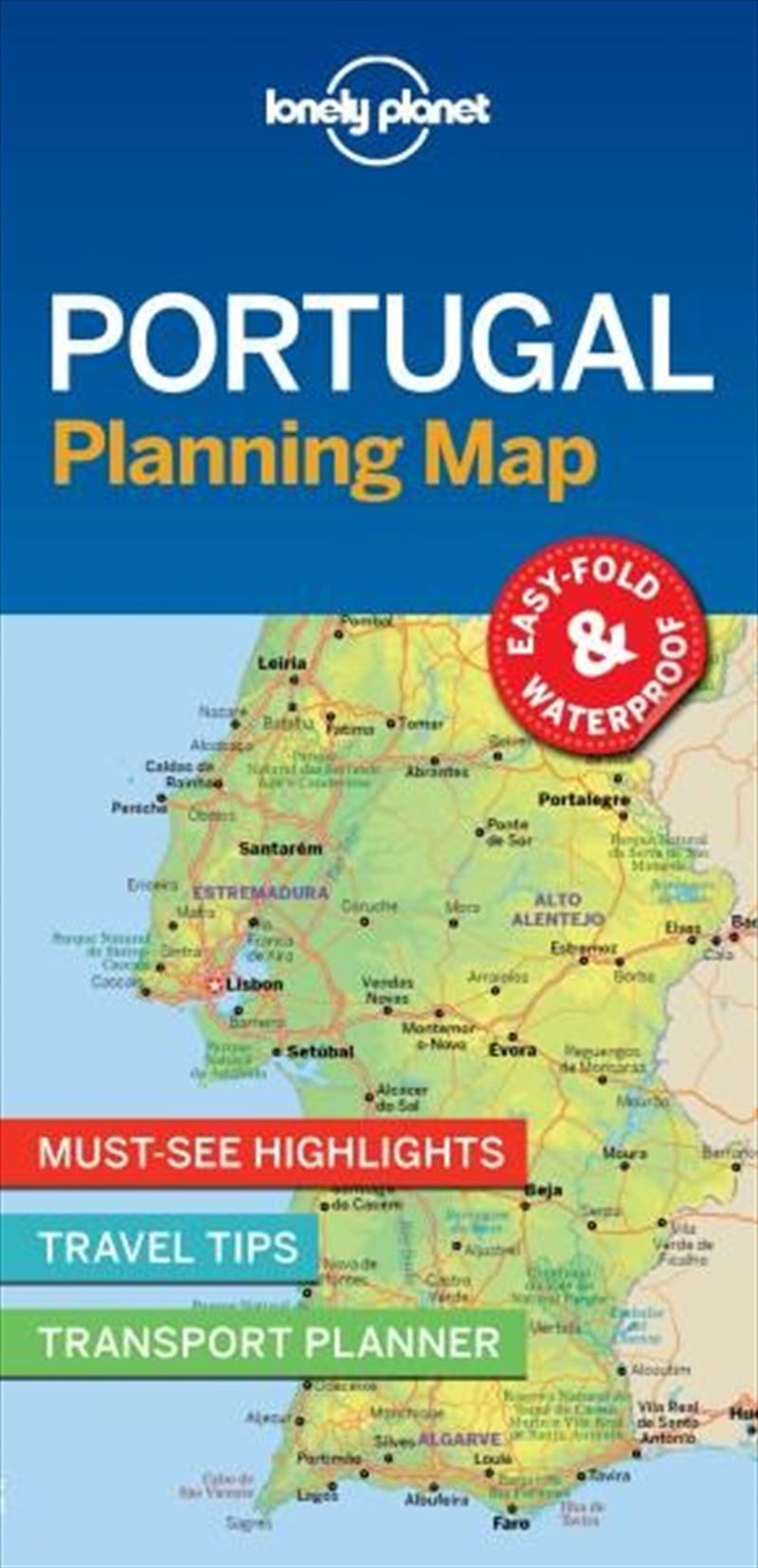 Lonely Planet - Portugal Planning Map | Sheet Map
