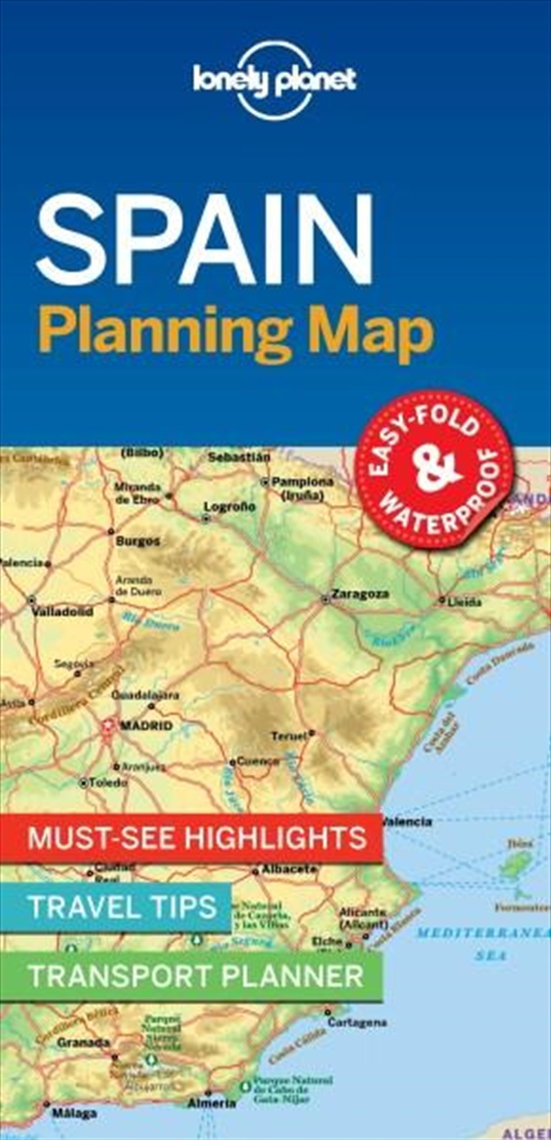 Lonely Planet - Spain Planning Map | Sheet Map