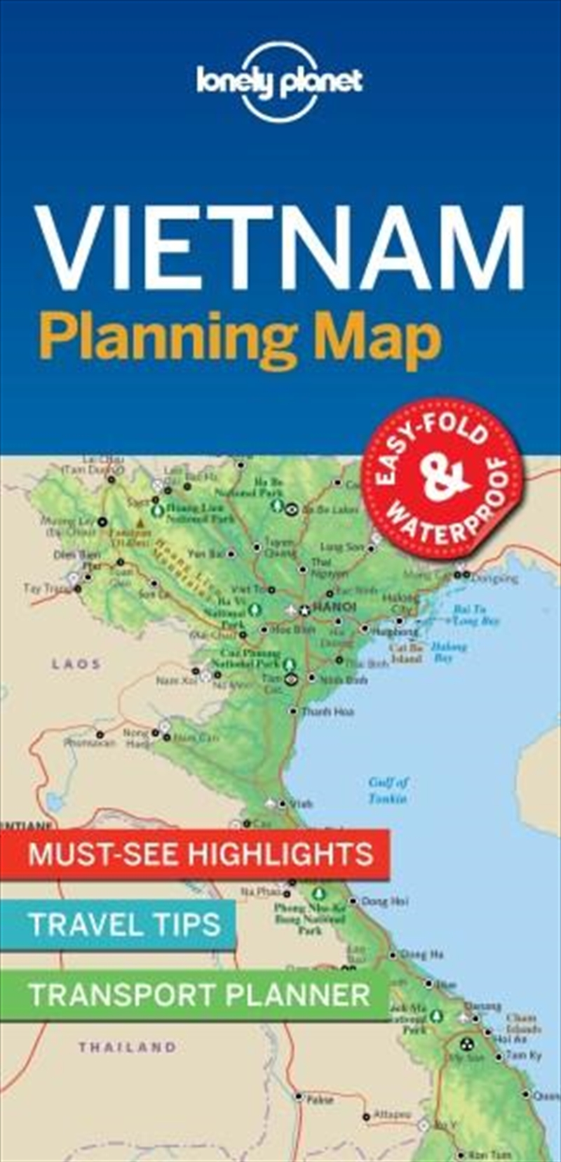 Lonely Planet - Vietnam Planning Map | Sheet Map