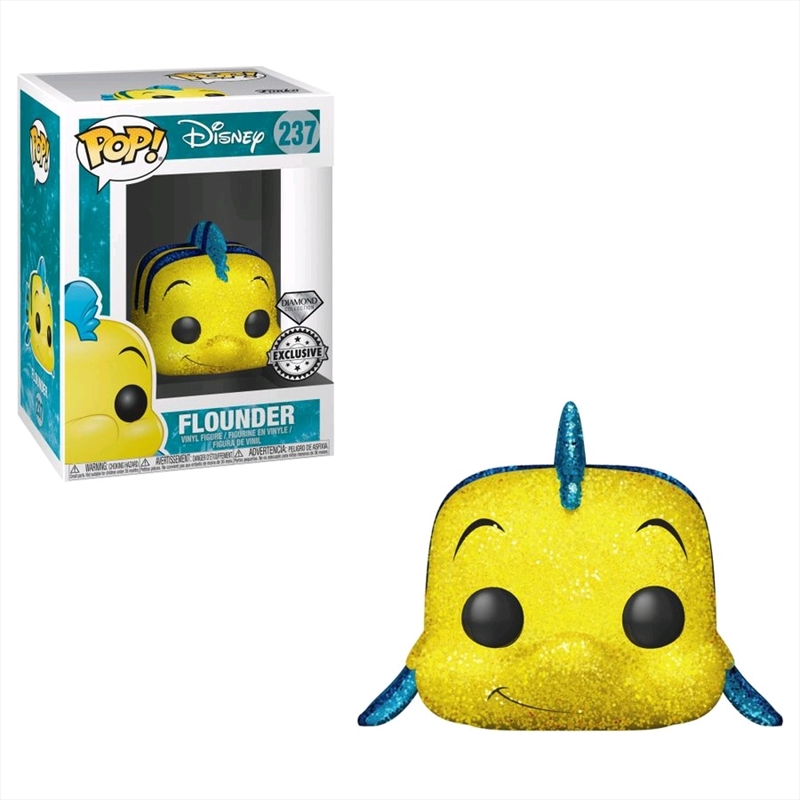 The Little Mermaid - Flounder Diamond Glitter Specialty Series Exclusive Pop! Vinyl | Pop Vinyl