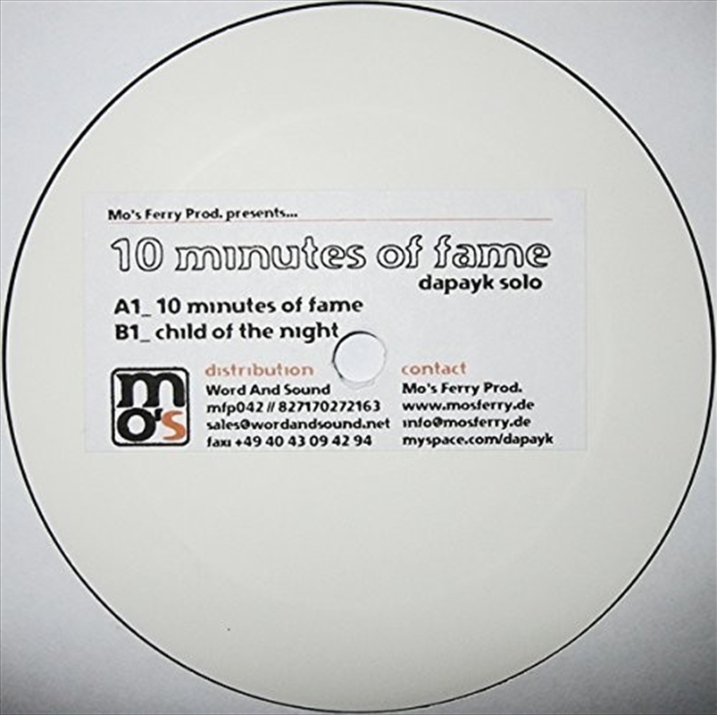 10 Minutes Of Fame   Vinyl