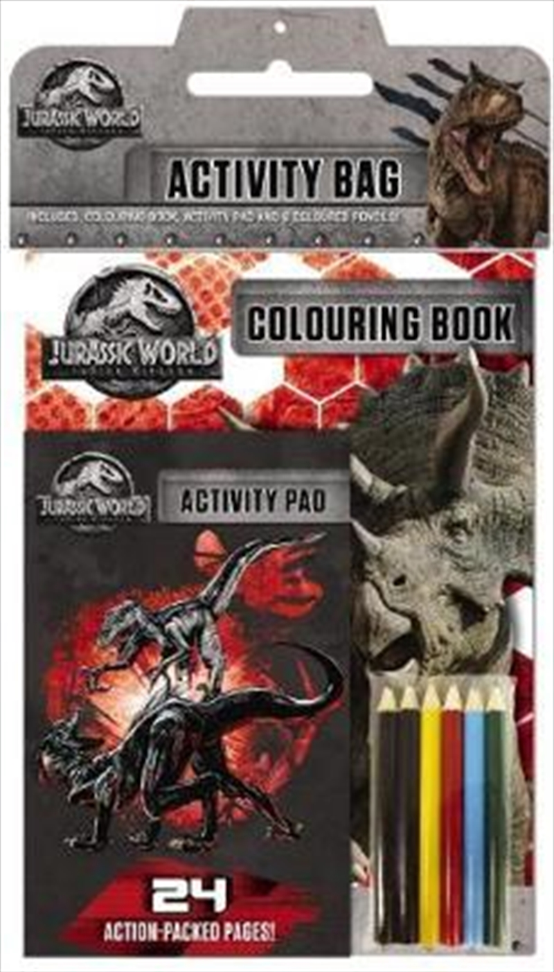 Jurassic World: Fallen Kingdom Activity Bag | Paperback Book