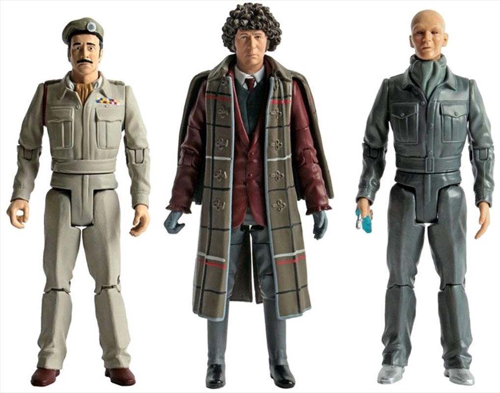 Doctor Who - Fourth Doctor, Brigadier Lethbridge-Stewart & Auton Action Figure 3-pack | Merchandise