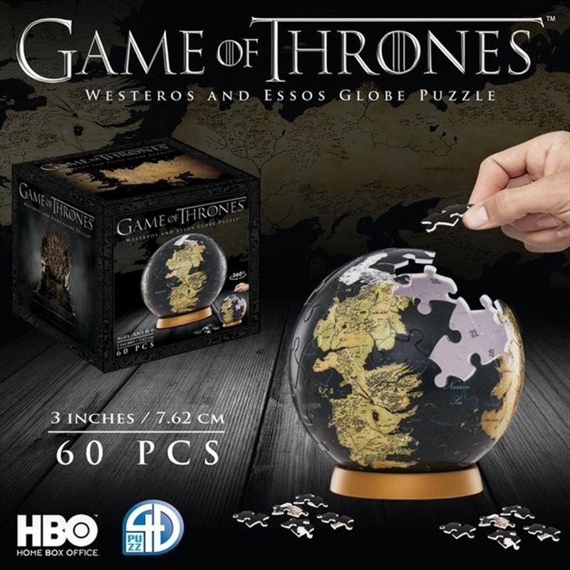 """Game of Thrones - 3"""" Globe Puzzle   Merchandise"""