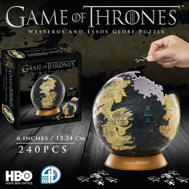 "Game of Thrones - 6"" Globe Puzzle 