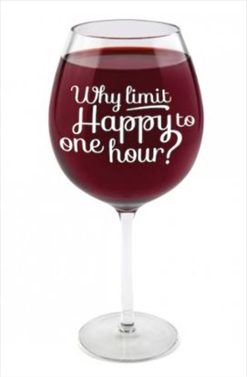 BigMouth The Happy Hour Gigantic Wine Glass | Miscellaneous