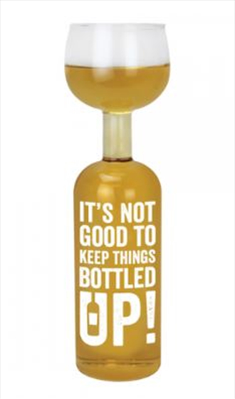 BigMouth The Bottled Up Wine Bottle Glass | Miscellaneous