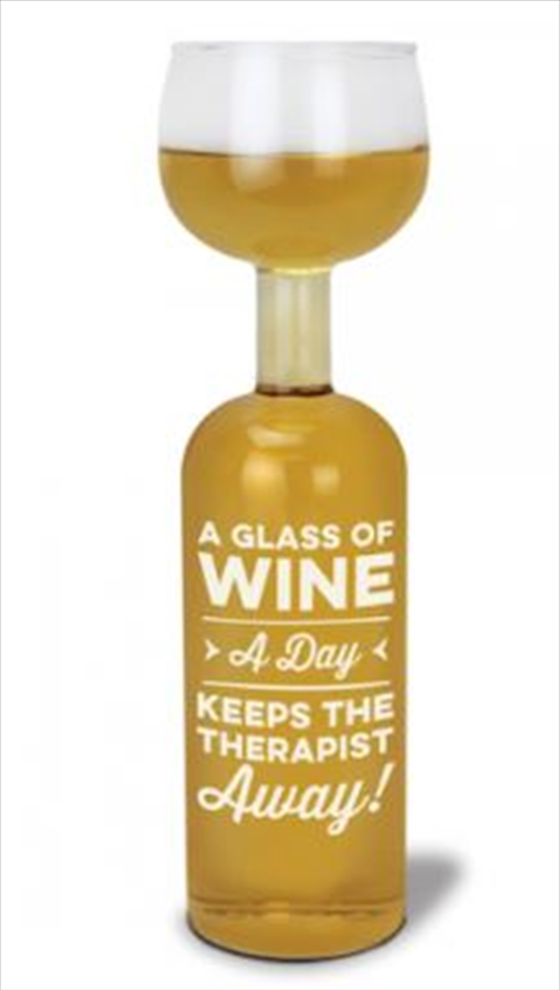 BigMouth A Glass A Day Wine Bottle Glass | Miscellaneous