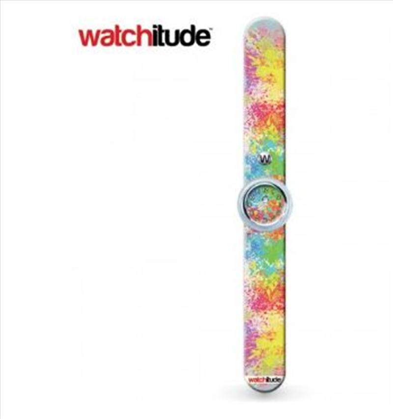 Watchitude #365 – Paint Splatter Slap Watch | Apparel