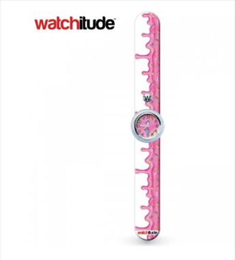 Watchitude #345 – Pink Frosting Slap Watch | Apparel