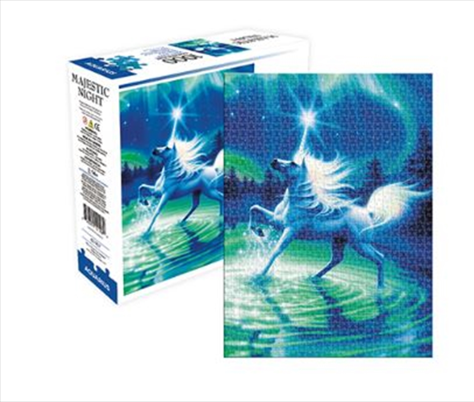 Unicorn Majestic Night – Aquarius Select 1000pc Puzzle | Merchandise