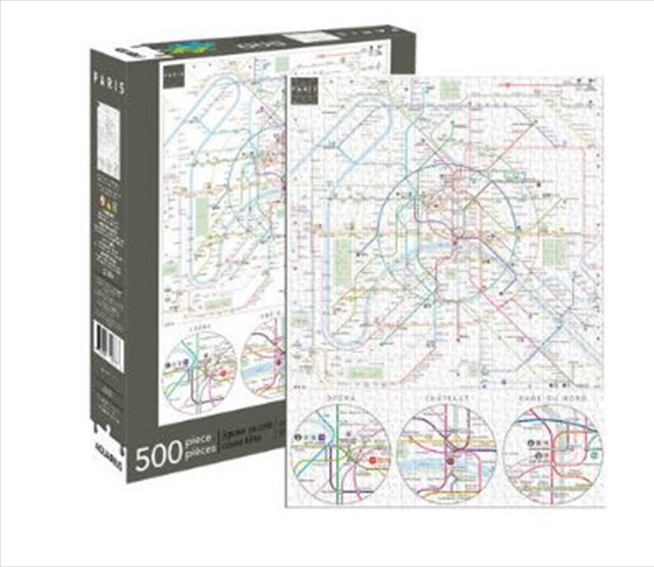 Paris Metro 500pc Puzzle | Merchandise