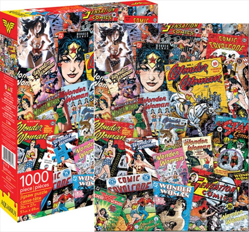 DC Comics WonderWoman Retro Collage 1000pc Puzzle   Merchandise