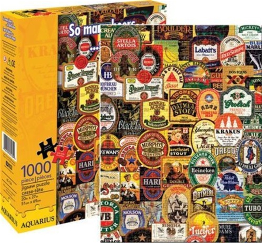 So Many Beers Collage 1000pc Puzzle | Merchandise