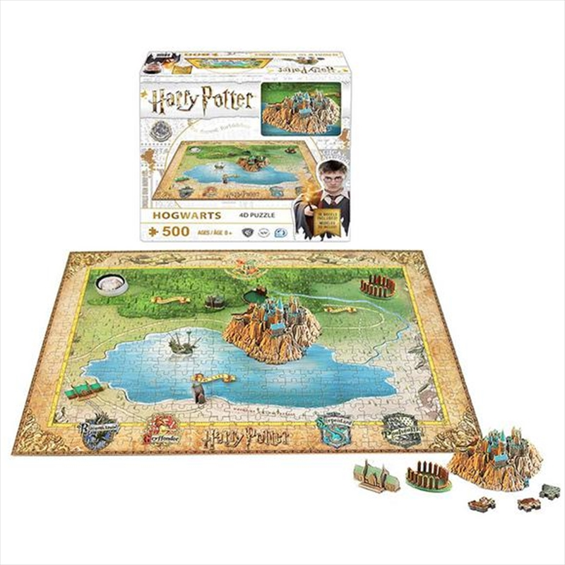 Harry Potter - Mini 4D Puzzle - Hogwarts | Merchandise