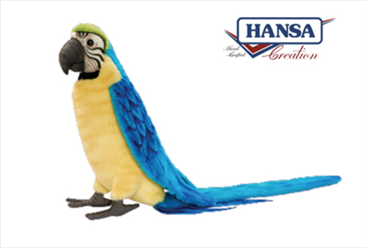 Gold Blue Macaw 72cm   Toy