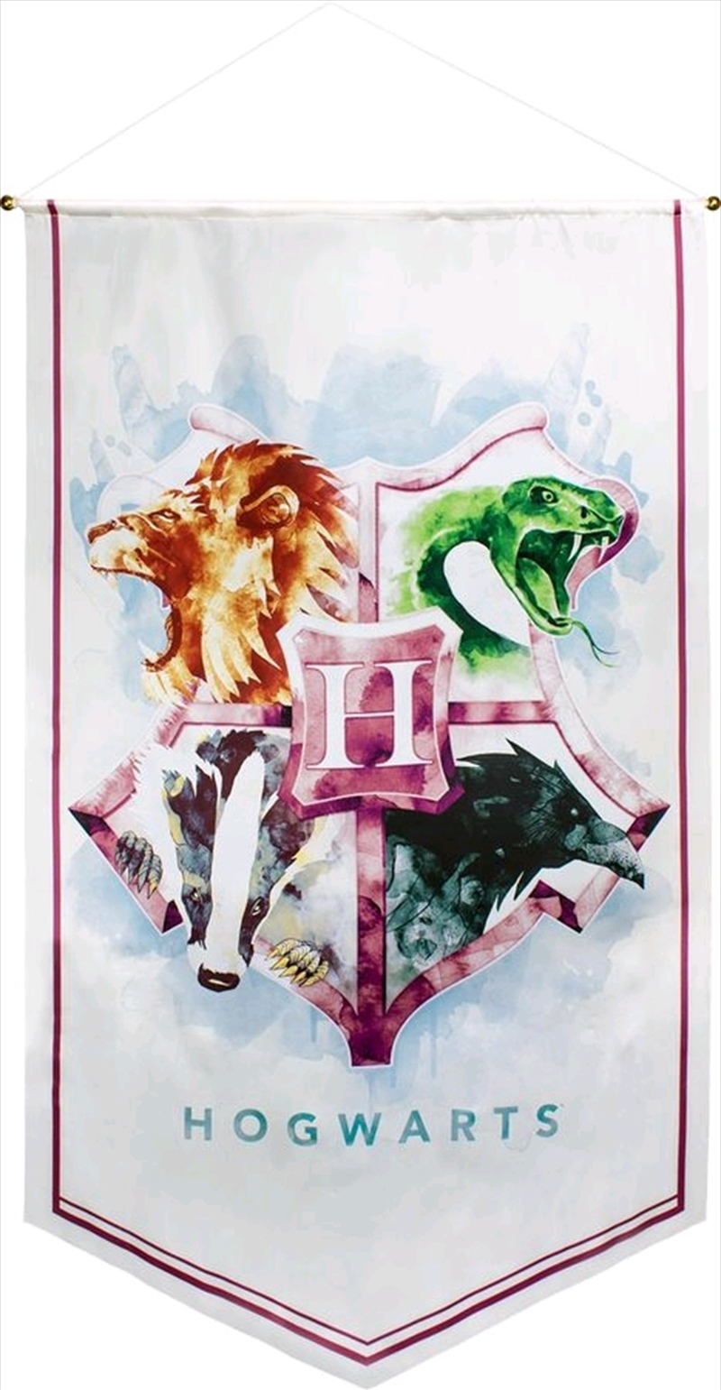 Harry Potter - Hogwarts Watercolour Satin Banner | Merchandise