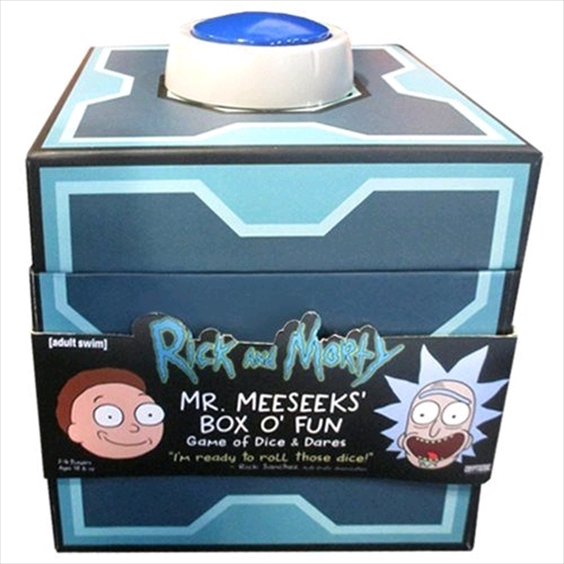 Rick and Morty - Mr. Meeseeks' Box o' Fun Dice & Dares Game | Merchandise