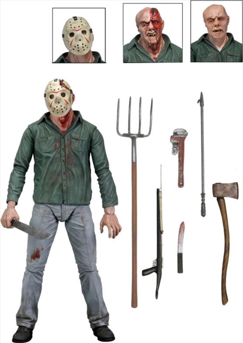 "Friday the 13th - Jason 7"" Part 3 Action Figure 