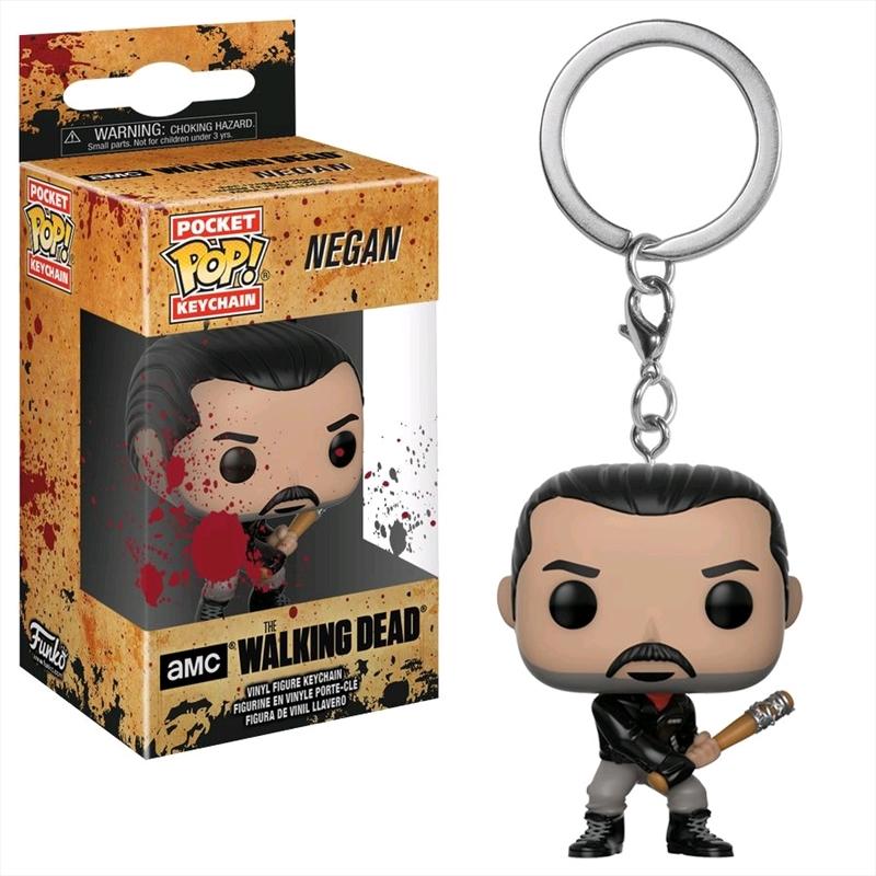 The Walking Dead - Negan Bloody Pocket Pop! Keychain | Accessories