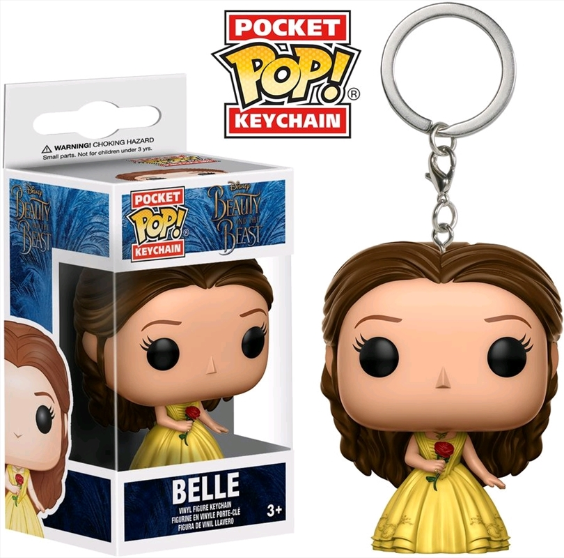 Beauty and the Beast (2017) - Belle Pocket Pop! Keychain | Pop Vinyl