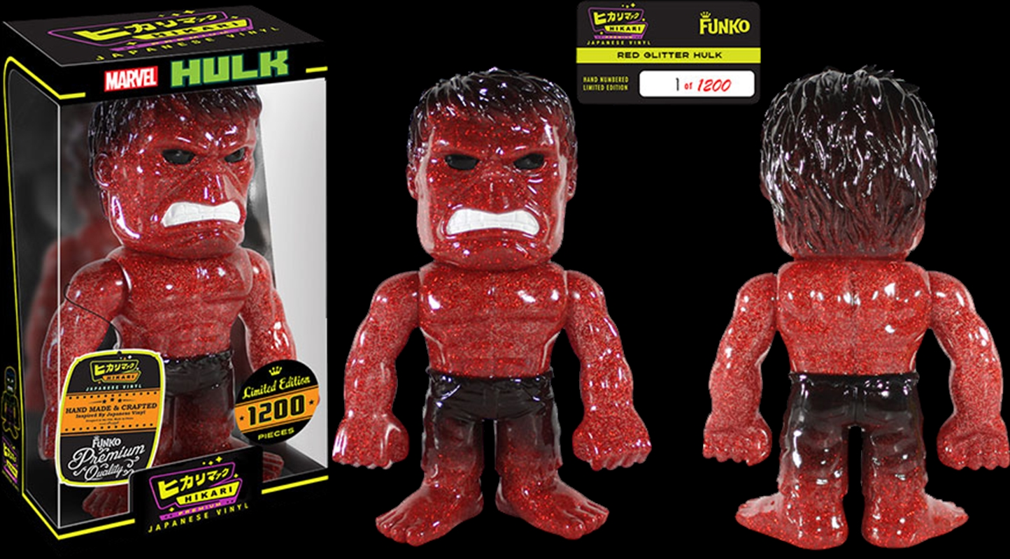 Hulk - Red Glitter Hikari Figure   Merchandise