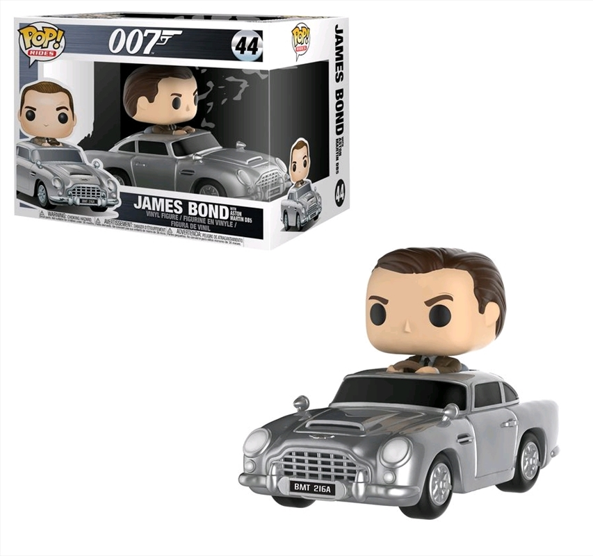 James Bond - Sean Connery with Aston Martin DB5 Pop! Ride | Pop Vinyl