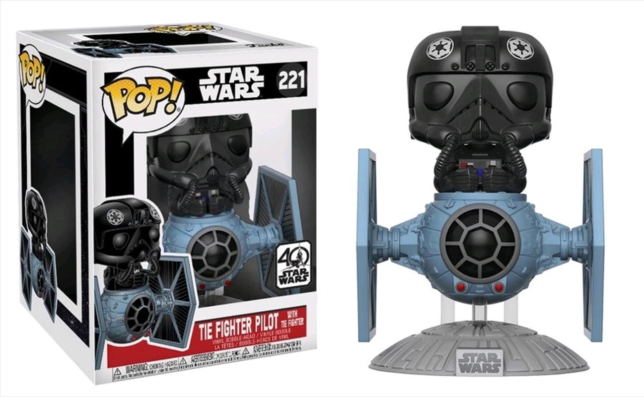 Star Wars - TIE Fighter Pilot with TIE Fighter Pop! Deluxe | Pop Vinyl