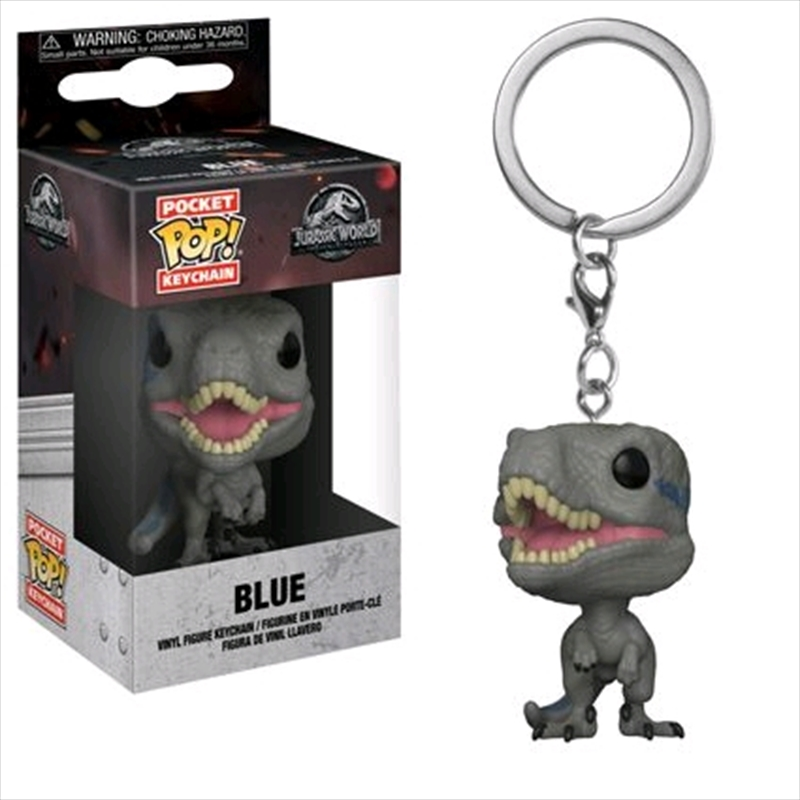 Jurassic World 2: Fallen Kingdom - Blue Pocket Pop! Keychain | Pop Vinyl
