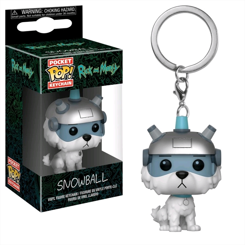 Rick & Morty - Snowball Pocket Pop! Keychain | Pop Vinyl