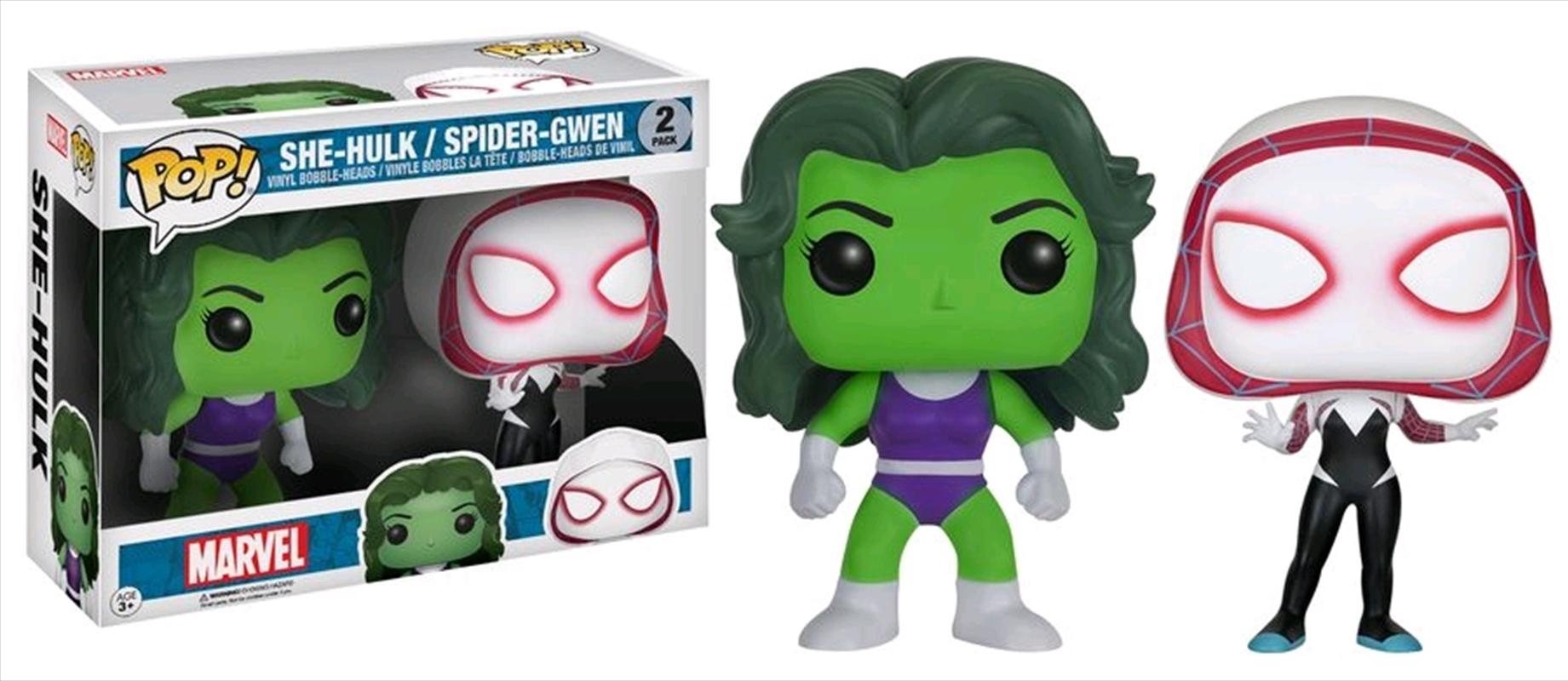 Marvel - She-Hulk & Spider-Gwen US Exclusive Pop! Vinyl 2-Pack   Pop Vinyl