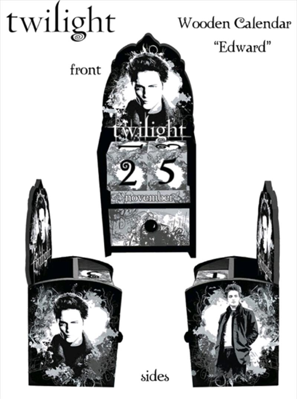 Twilight - Calendar Wooden Edward Cullen   Merchandise