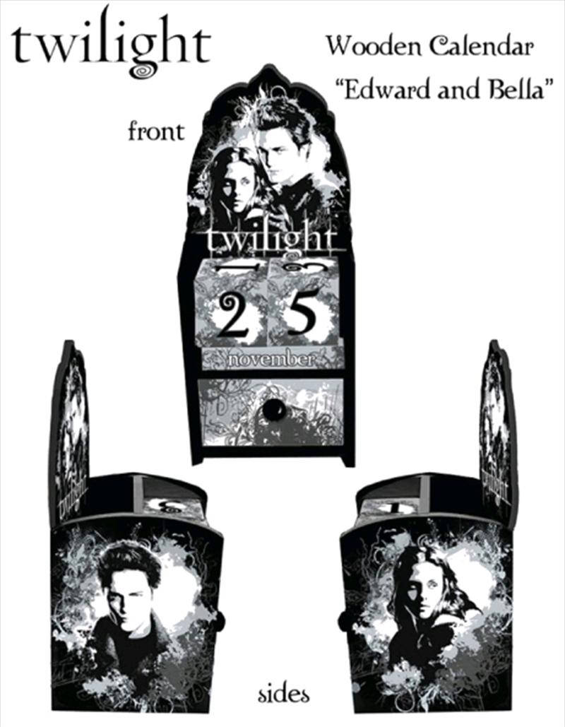 Twilight - Calendar Wooden Edward & Bella | Merchandise