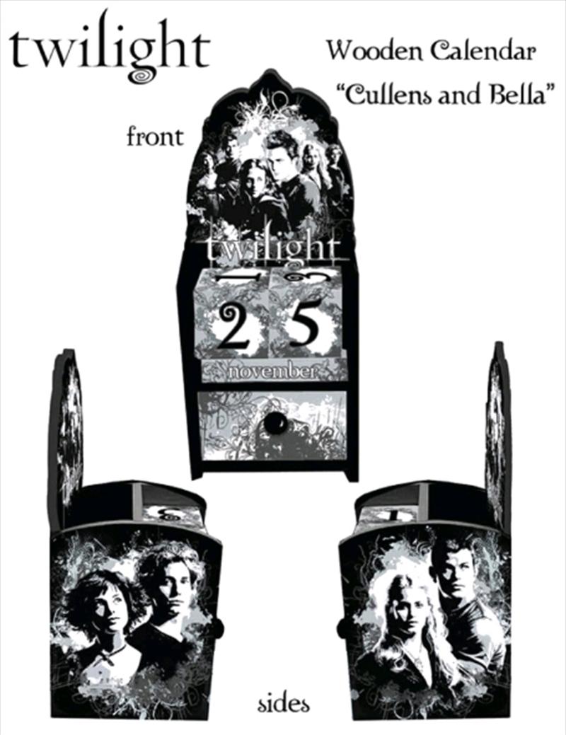 Twilight - Calendar Wooden Bella & Cullens   Merchandise